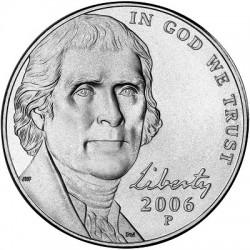 سکه 5 سنت - نیکل مس - آمریکا 2007 غیر بانکی
