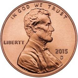 سکه 1 سنت - برنجی - آمریکا 2015 غیر بانکی