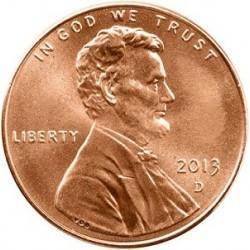 سکه 1 سنت - برنجی - آمریکا 2013 غیر بانکی