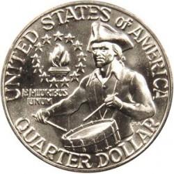 سکه 25 سنت - کوارتر - نیکل مس - تصویر جرج واشنگتن  - آمریکا 1976 بانکی