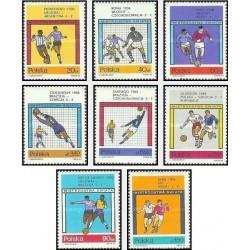 8 عدد تمبر جام جهانی فوتبال انگلیس - لهستان 1966 قیمت 7.4 دلار