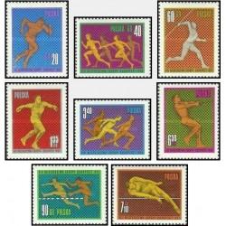 8 عدد تمبر مسابقات قهرمانی ورزشهای سبک اروپا ، بوداپست مجارستان - لهستان 1966