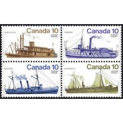 4 عدد تمبر کشتیهای کانادائی - 2 - کانادا 1976