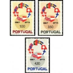 3 عدد تمبر  EFTA - پرتغال 1967 قیمت 4.7 دلار