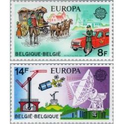2 عدد تمبر مشترک اروپا - Europa Cept - تاریخچه پست - بلژیک 1979