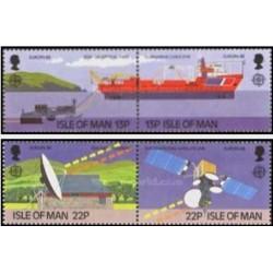 4 عدد تمبر مشترک اروپا - Europa Cept - حمل و نقل و ارتباطات - جزیره من 1988 قیمت  5.2 دلار