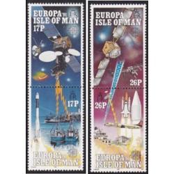 4 عدد تمبر مشترک اروپا - Europa Cept - فضای اروپا- جزیره من 1991 قیمت  5.8 دلار