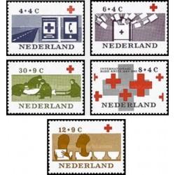 5 عدد تمبر صلیب سرخ - هلند 1963