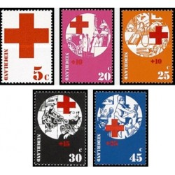 5 عدد تمبر صلیب سرخ - هلند 1972