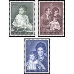 3 عدد تمبر پرنسس آلکسیا  - یونان 1966