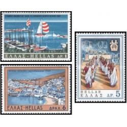 3 عدد تمبر توریسم - یونان 1969