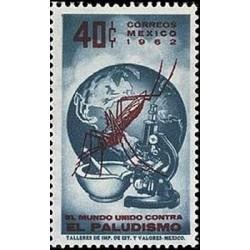 1 عدد تمبر ریشه کنی مالاریا - مکزیک 1962
