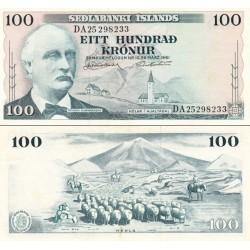 اسکناس 100 کرون - ایسلند 1961