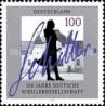 1 عدد تمبر صدمین سال انجمن آلمانی شیلر - جمهوری فدرال آلمان 1995