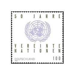 1 عدد تمبر پنجاهمین سالروز سازمان ملل - جمهوری فدرال آلمان 1995