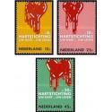 3 عدد تمبر مبارزه با بیماریهای قلبی- هلند 1970 قیمت 2.6 دلار