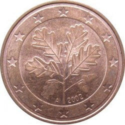 سکه 1 سنت یورو - مس روکش فولاد - آلمان 2002 غیر بانکی