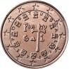 سکه 1 سنت یورو - مس روکش فولاد - اسپانیا 2002 غیر بانکی