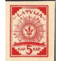 1 عدد تمبر سری پستی - بیدندانه - لتونی 1918