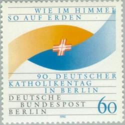 1 عدد تمبر نودمین سال روز کاتولیک در برلین - برلین آلمان 1990 قیمت 2.3 دلار