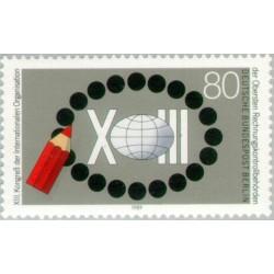 1 عدد تمبر کنگره تجدید نظر مجلس بین الملل - برلین آلمان 1989