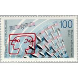 1 عدد تمبر نمایشگاه بین المللی رادیو - برلین آلمان 1989
