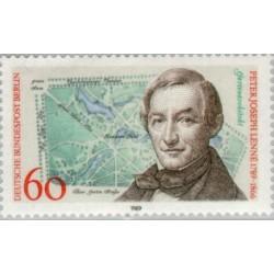 1 عدد تمبر 200مین سال تولد پیتر جوزف لنه طراح باغ - برلین آلمان 1989
