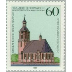 1 عدد تمبر 450مین سال اصلاحات - برلین آلمان 1989