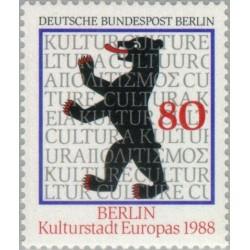 1 عدد تمبر برلین پایتخت فرهنگی اروپا - برلین آلمان 1988