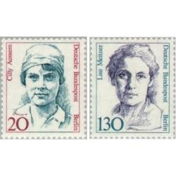 2 عدد تمبر سری پستی زنان نامدار -سیلی عوصم و لیز میتنر -  برلین آلمان 1988 قیمت 7.8 دلار