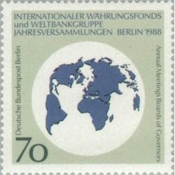 1 عدد تمبر بانک جهانی - برلین آلمان 1988