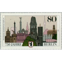 1 عدد تمبر هفتصد و پنجاه سالگی برلین - برلین آلمان 1987 قیمت 2.3 دلار