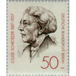 1 عدد تمبر صدمین سال تولد لوئیز شرودر - سیاستمدار - برلین آلمان 1987