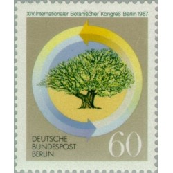 1 عدد تمبر کنگره بین المللی گیاهشناسی - برلین آلمان 1987
