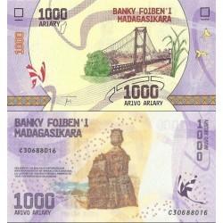 اسکناس 1000 آریاری - ماداگاسکار 2017