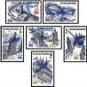 6 عدد تمبر نمایشگاه بین المللی تمبر پراگا - معماری پراگ - پست هوائی - چک اسلواکی 1976 قیمت 4 دلار