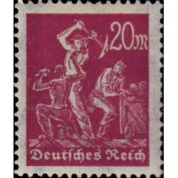 1 عدد تمبر از سری پستی - 20 فنیک  - رایش آلمان 1922