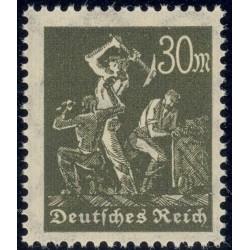 1 عدد تمبر از سری پستی - 30 فنیک  - رایش آلمان 1922