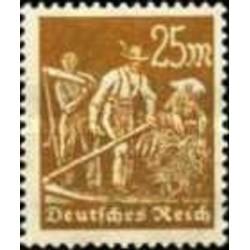 1 عدد تمبر از سری پستی - 25 فنیک  - رایش آلمان 1922