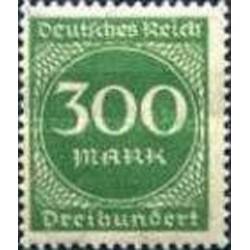 1 عدد تمبر از سری پستی - 300 مارک  - رایش آلمان 1923