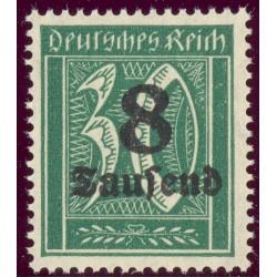 1 عدد تمبر از سری پستی - سورشارژ  8 مارک  - رایش آلمان 1923