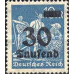 1 عدد تمبر از سری پستی - سورشارژ  30 مارک  - رایش آلمان 1923