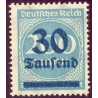 1 عدد تمبر از سری پستی - سورشارژ  30 مارک روی 200  - رایش آلمان 1923