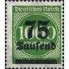 1 عدد تمبر از سری پستی - سورشارژ  75 مارک روی 1000  - رایش آلمان 1923