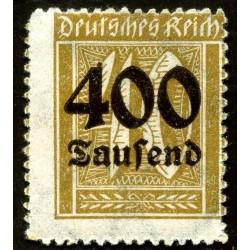 1 عدد تمبر از سری پستی - سورشارژ  400 مارک روی 40  - رایش آلمان 1923