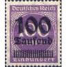 1 عدد تمبر از سری پستی - سورشارژ  100 مارک روی 100  - رایش آلمان 1923