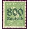 1 عدد تمبر از سری پستی - سورشارژ  800 مارک روی 5  - رایش آلمان 1923