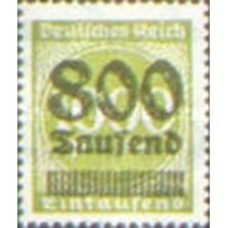 1 عدد تمبر از سری پستی - سورشارژ  800  روی 1000  - رایش آلمان 1923