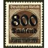 1 عدد تمبر از سری پستی - سورشارژ  800  روی 400  - رایش آلمان 1923  با شارنیه