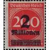1 عدد تمبر از سری پستی - سورشارژ  2 م مارک  روی 200  - رایش آلمان 1923  بدون چسب